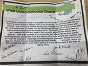 A thank you from Hamburg UMC