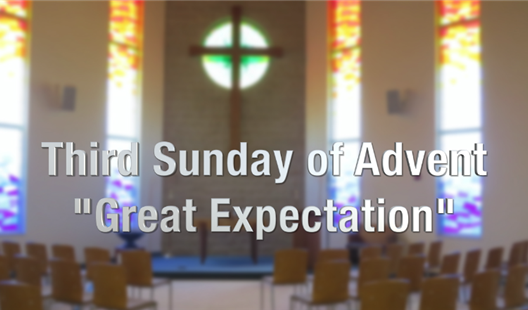 Great Expectation: An Advent message from Harlan Gillespie